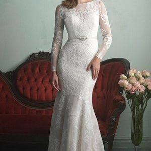 Allure Bridals Champagne Ivory Lace Gown